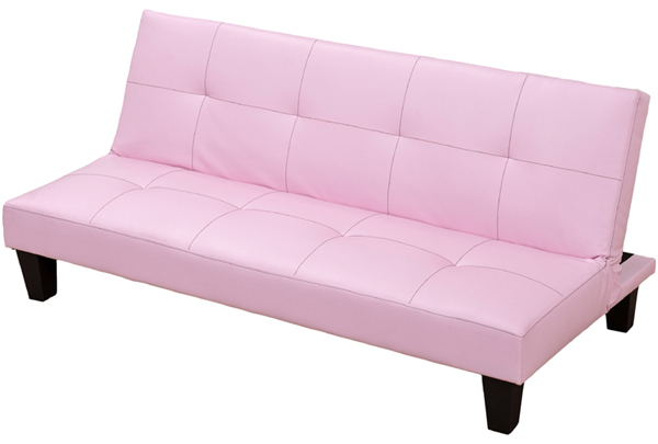 Strange Faux Leather Junior Sofa Bed In Black Brown Or Pink Machost Co Dining Chair Design Ideas Machostcouk